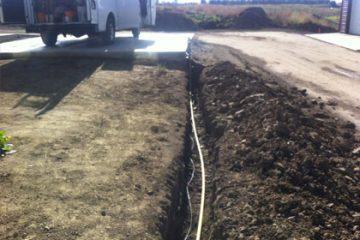 Underground Gas Line Installation