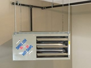 garage heater, garage heater cost, garage heater installation