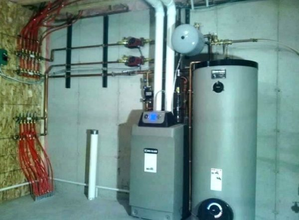 Weil-McLain high efficiency indirect fired water heater system