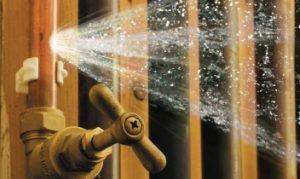 Burst pipe will cause water damage when water sprays everywhere.